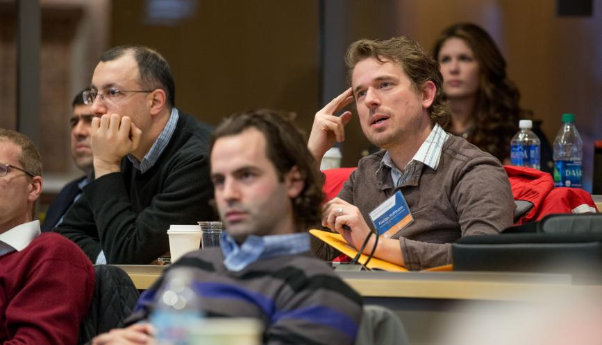 Conference attendees in the audience