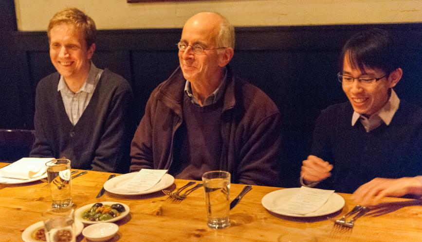 Gary Solon, Jørgen Modalsli, and Kegon Tan at dinner