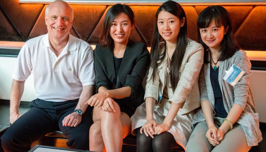 Professor Steven Durlauf, Fanghua Li, Wenchao Jin, and Xuejing Zuo