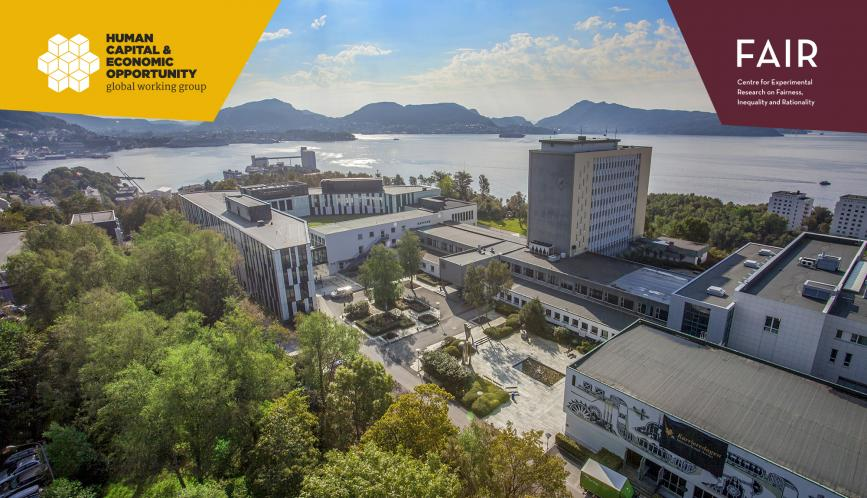 An aerial image of the NHH campus In Bergen, Norway.