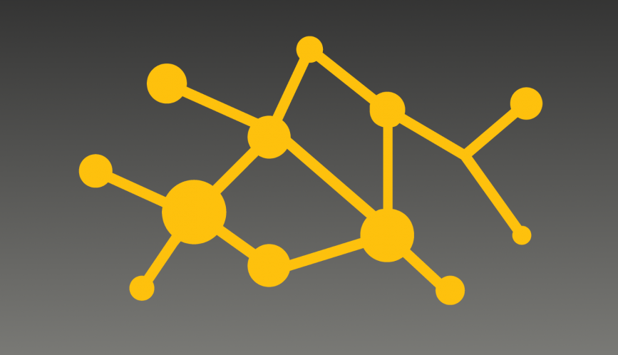 Gray and yellow vector image of connection.