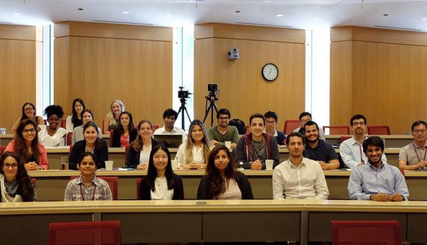 SSSI students sitting in lecture hall.