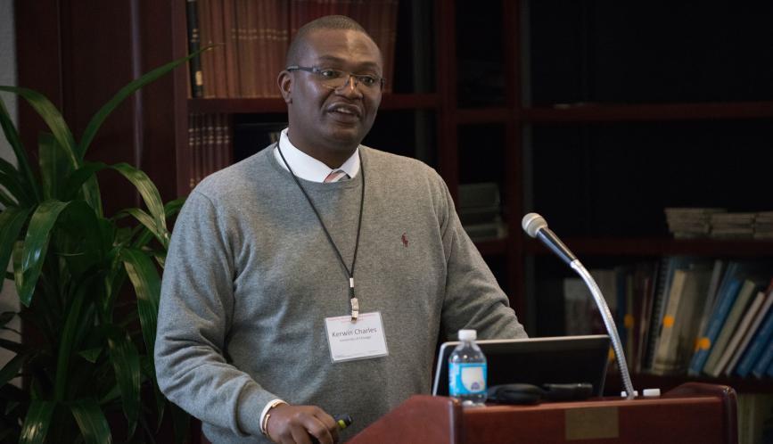 Professor Kerwin Charles lecturing.
