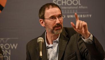 Professor Marc Fleurbaey at a conference.